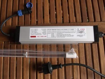 48 Watt Rota Montageset UVC Tauch Strahler incl. Vorschaltgerät Lampe Quarz