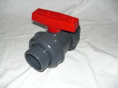 PVC Kugelhahn 20 mm Absperrhahn mit Klebemuffe Koiteich