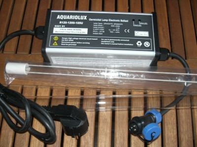 Rota 105 Watt UVC Montageset Amalgam UVC Strahler Tauch