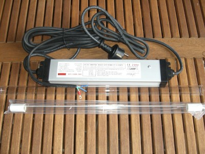 75 Watt Rota Montageset UVC Tauch Strahler incl. Vorschaltgerät Lampe Quarz